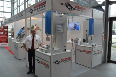 Company stand HERRMANN Ultraschalltechnik GmbH & Co. KG on trade show PLASTPOL 2015