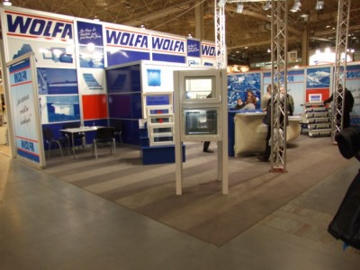 Company stand WOLFA Friedrich Wolfarth GmbH & Co. KG on trade show BUDMA 2012