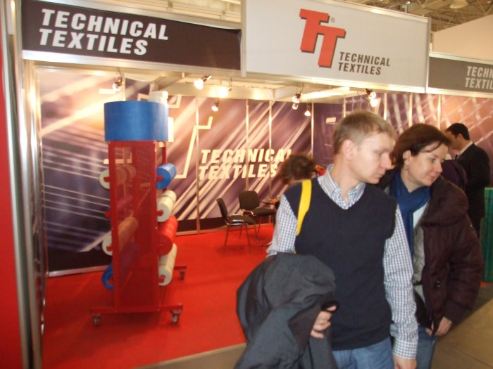 Company stand TECHNICAL TEXTILES s.r.o. on trade show BUDMA 2012