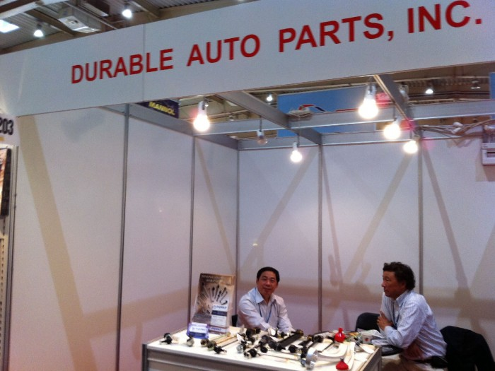 Company stand DURABLE AUTO PARTS Inc. on trade show Fit - Expo 2011
