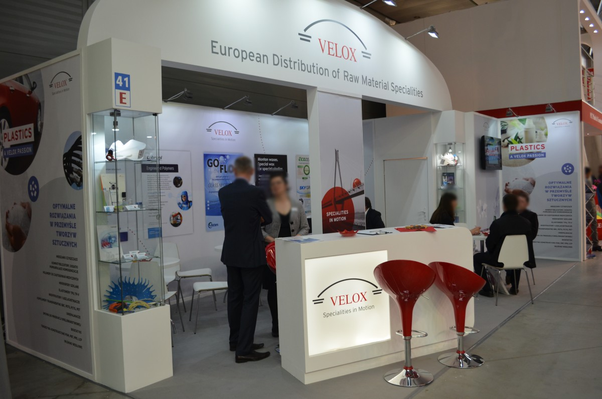 Company stand POTTERS EUROPE Engineered Glas Matiriels (EGM) Division on trade show PLASTPOL 2015