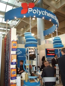 Company stand POLYCHEM SYSTEMS Sp. z o.o. on trade show BUDMA 2012