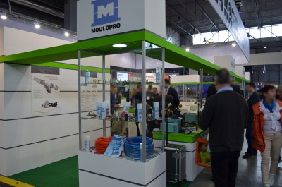 Company stand MOULDPRO ApS on trade show PLASTPOL 2015