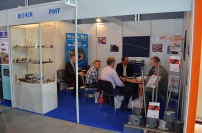Company stand PMT S.A on trade show PLASTPOL 2015