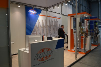 Company stand INCOE International Europe on trade show PLASTPOL 2015