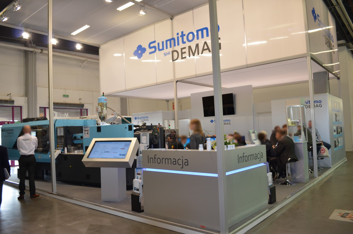 Company stand Sumitomo (SHI) Demag Plastics Machinery Polska Sp. z o.o. on trade show PLASTPOL 2015