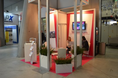 Company stand MILLENNIUM LEASING Sp. z o.o. on trade show PLASTPOL 2015