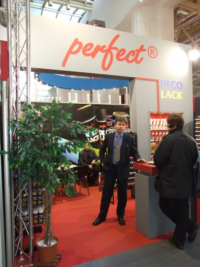 Company stand PERFECT AEROSOL POLSKA Sp. z o.o. on trade show BUDMA 2012