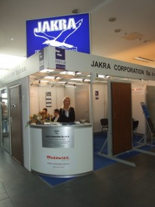 Company stand JAKRA CORPORATION Sp. z o.o. on trade show BUDMA 2012