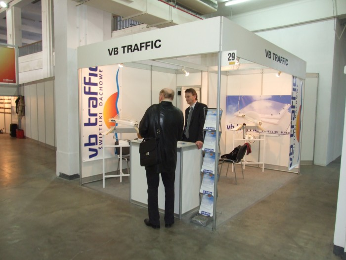 Company stand VB TRAFFIC Sp. z o.o. on trade show BUDMA 2012