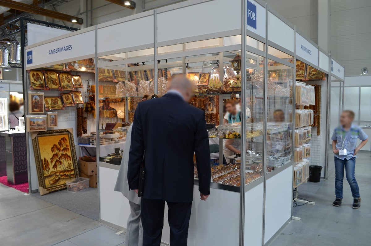 Company stand Amberimages on trade show JUBINALE 2015