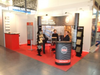 Company stand RMIG Sp. z o.o. on trade show BUDMA 2012