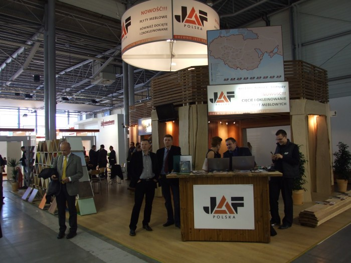 Company stand JAF POLSKA Sp. z o. o. on trade show FURNICA 2012