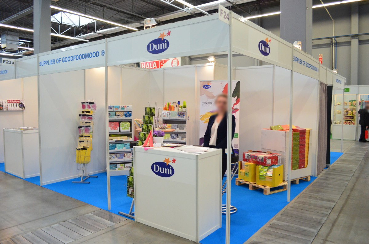 Company stand Duni Sales Poland Sp. z o.o. on trade show PLME 2015