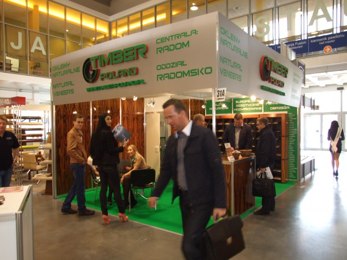 Company stand TIMBER POLAND s.c. on trade show FURNICA 2012