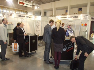 Company stand GLOBAL SERVICE on trade show FURNICA 2012
