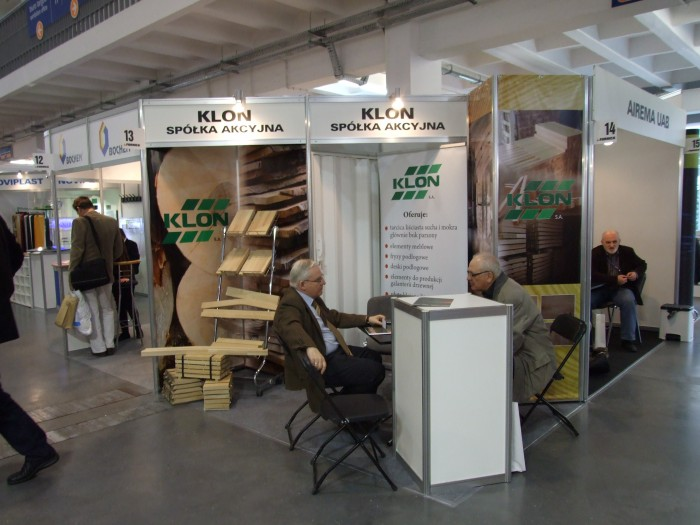 Company stand KLON Sp. z o.o. on trade show FURNICA 2012