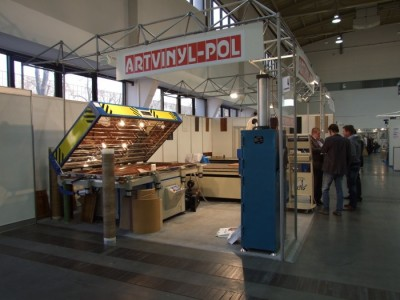 Company stand ARTVINYL - POL Sp. z o.o. on trade show FURNICA 2012