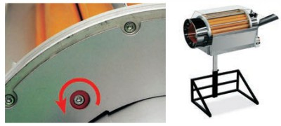 Product, S41xx - Rotating drum separator with rollers adjustment by single screw from company CRIZAF S.p.A