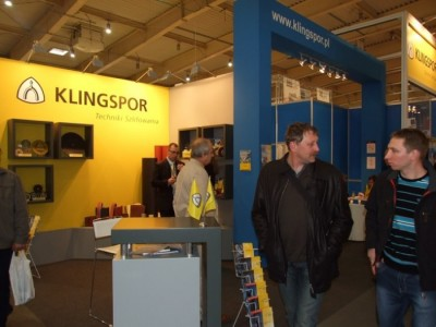 Company stand KLINGSPOR Sp. z o.o. on trade show DREMA 2012