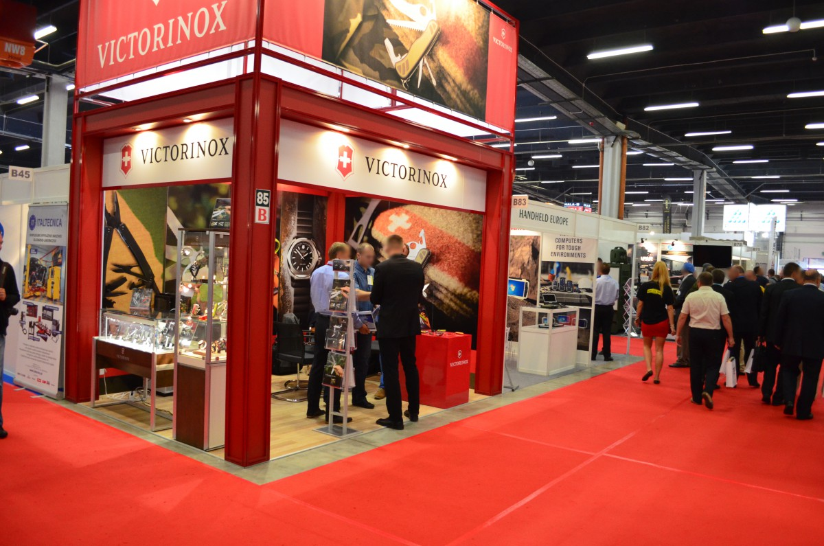 Company stand VICTORINOX POLAND Sp. z o.o. on trade show MSPO & LOGISTYKA 2015