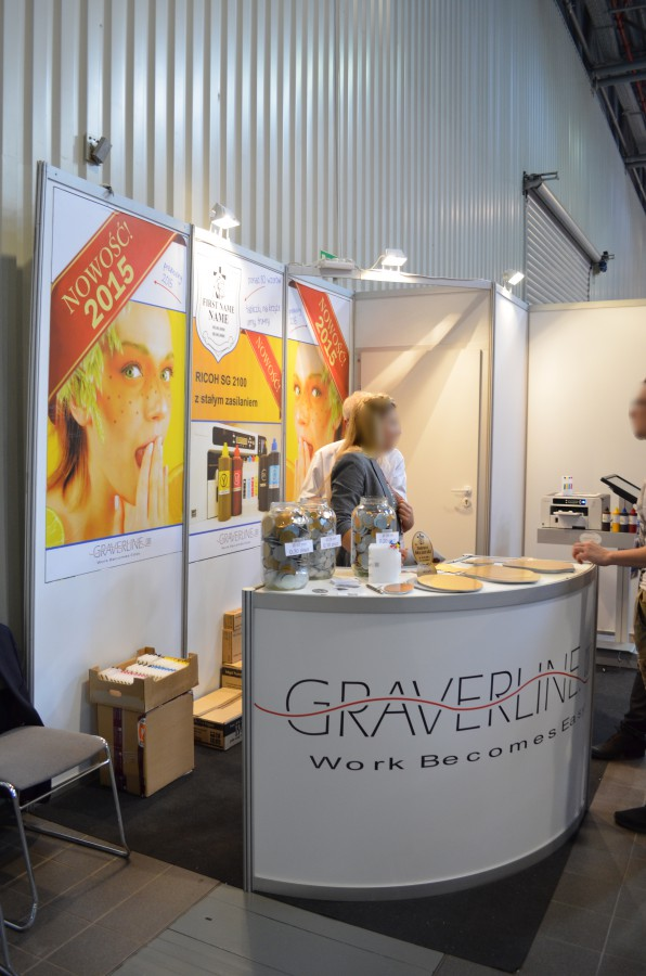 Company stand GRAVERLINE.COM on trade show Festiwal Marketingu, Druku & Opakowań 2015