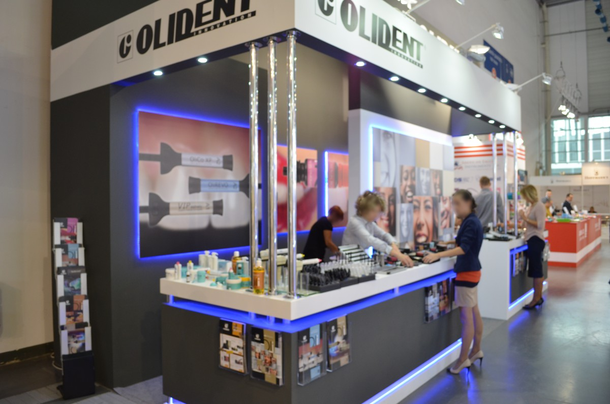 Company stand OLIDENT on trade show CEDE 2015