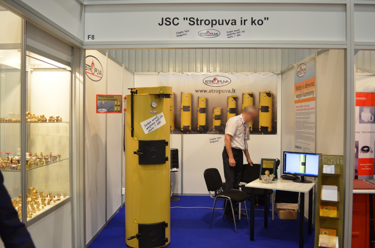 Company stand STROPUVA JSC ir ko on trade show Warsaw Build & Aqua-Therm Warsaw 2015