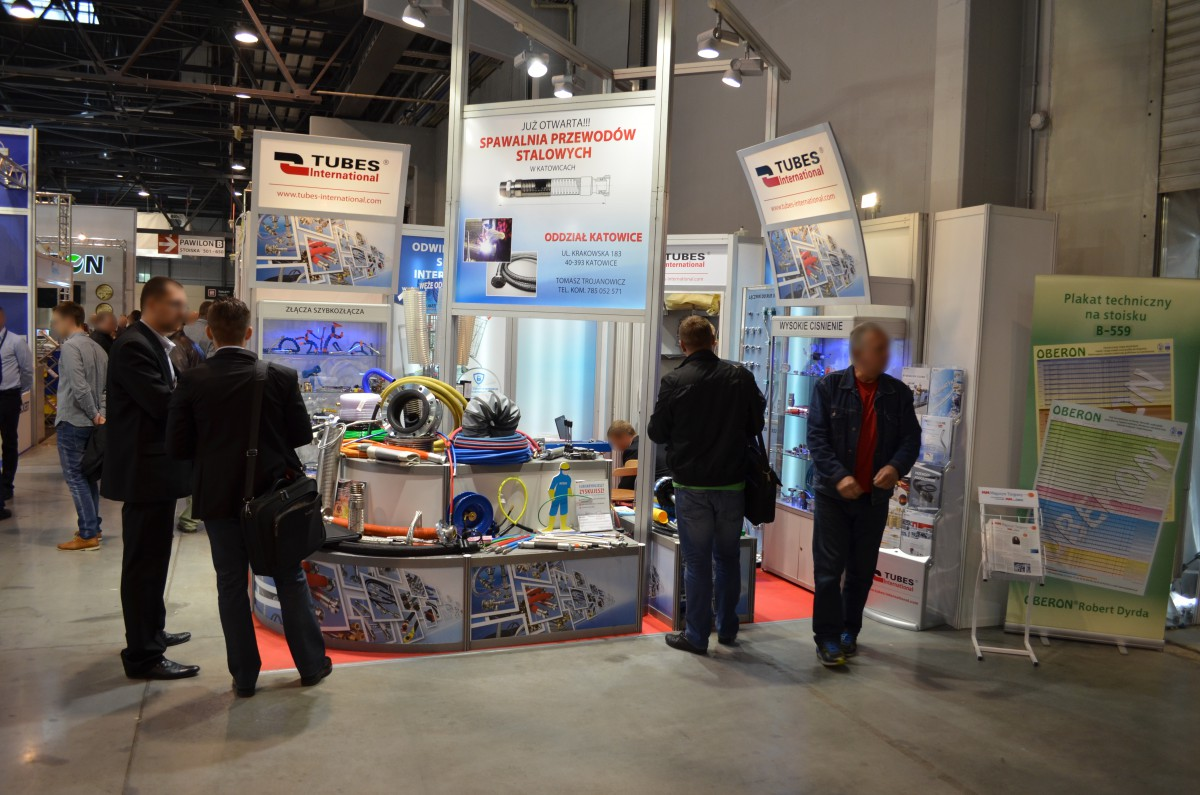 Company stand TUBES International Sp. z o.o. on trade show TOOLEX & WIRTOTECHNOLOGIA & LASEREXPO & SteelMET & OILexpo & SURFPROTECT & TEZ Expo 2015