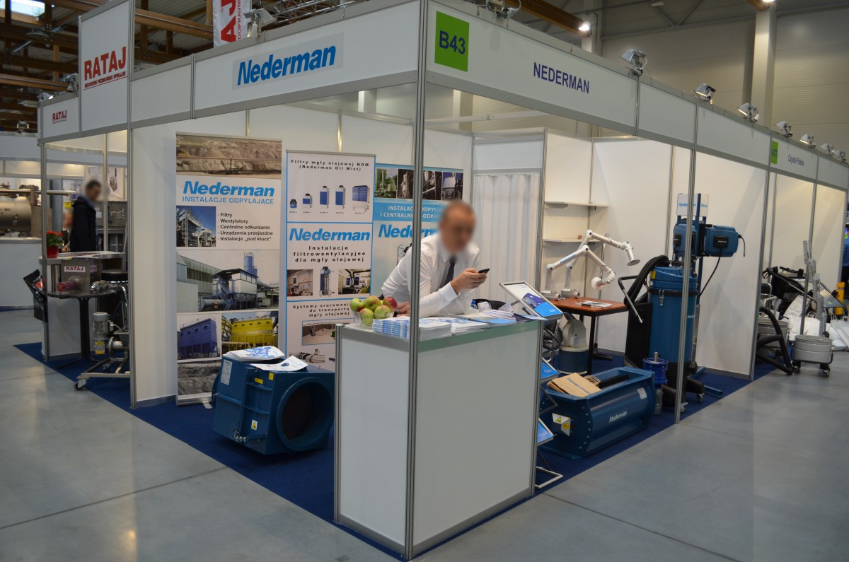 Company stand NEDERMAN POLSKA Sp. z o.o. on trade show SyMas & Maintenance 2015