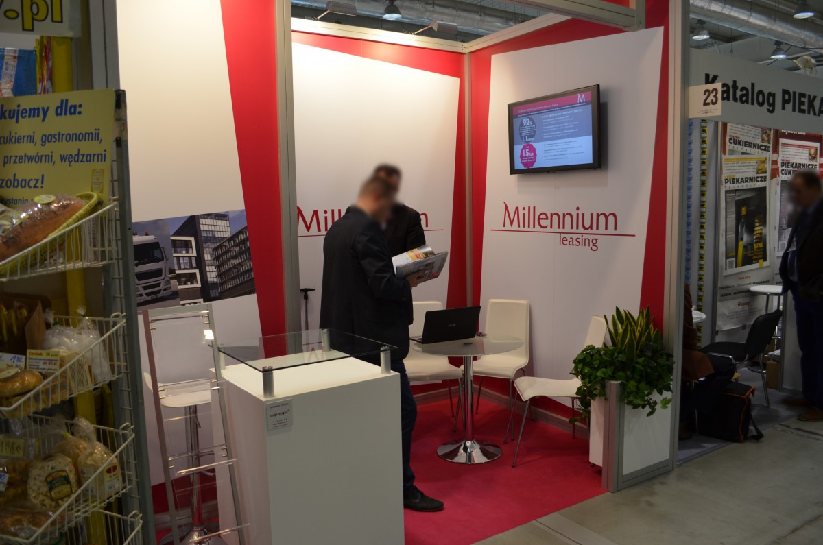 Company stand MILLENNIUM LEASING Sp. z o.o. on trade show BAKEPOL - LUBLIN 2015