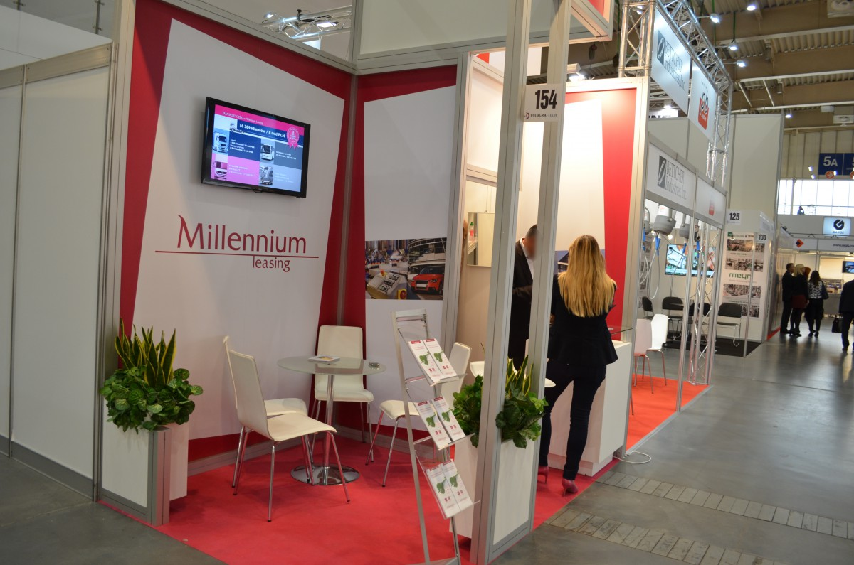 Company stand MILLENNIUM LEASING Sp. z o.o. on trade show POLAGRA-TECH 2015