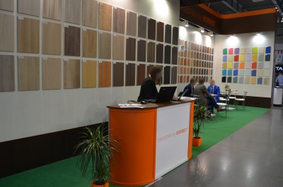 Company stand SWISSPAN LIMITED LLC  on trade show FURNICA 2015