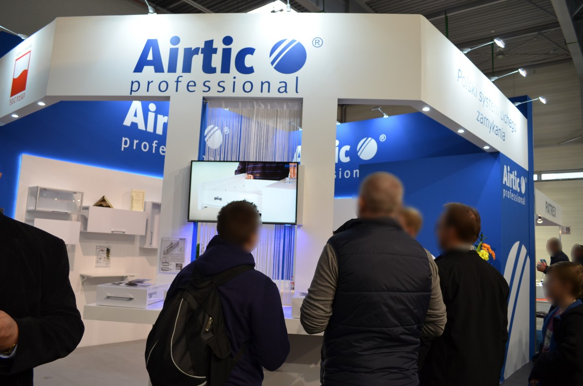 Company stand Airtic Professional on trade show FURNICA 2015