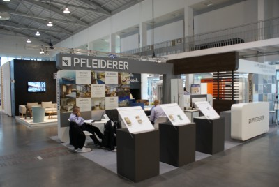 Company stand Pfleiderer Grajewo S.A. on trade show INVEST - HOTEL 2015
