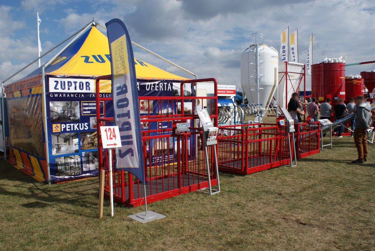 Company stand ZUPTOR Sp. z o.o. on trade show AGROSHOW 2015