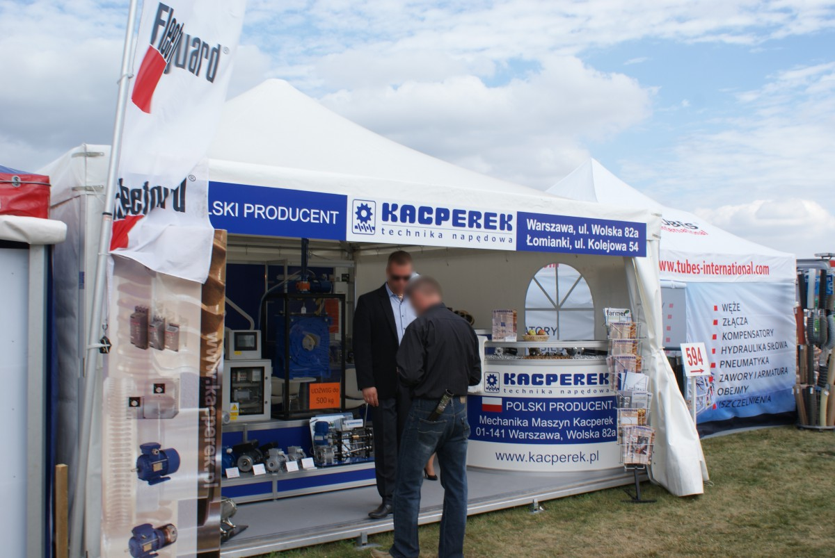 Company stand KACPEREK - Mechanika Maszyn  on trade show AGROSHOW 2015