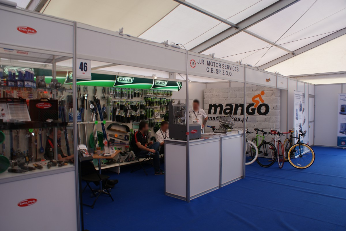 Company stand J.R. MOTOR SERVICES G.B. Sp. z o.o. on trade show AGROSHOW 2015