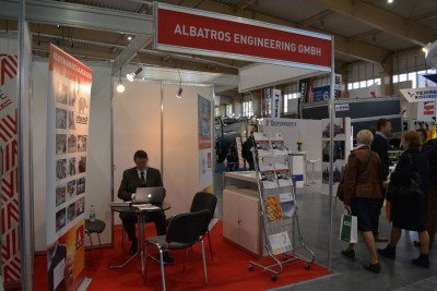 Company stand ALBATROS Engineering GmbH on trade show POL-EKO-SYSTEM 2015