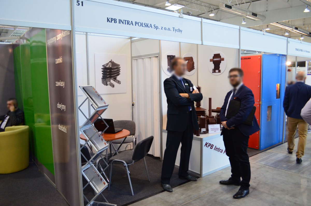 Company stand Kpb Intra Polska Sp. z o.o. on trade show ENERGETICS &  INFOSTRADA 2015