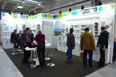 Company stand PHOENIX CONTACT Sp. z o.o. on trade show ENERGETICS &  INFOSTRADA 2015