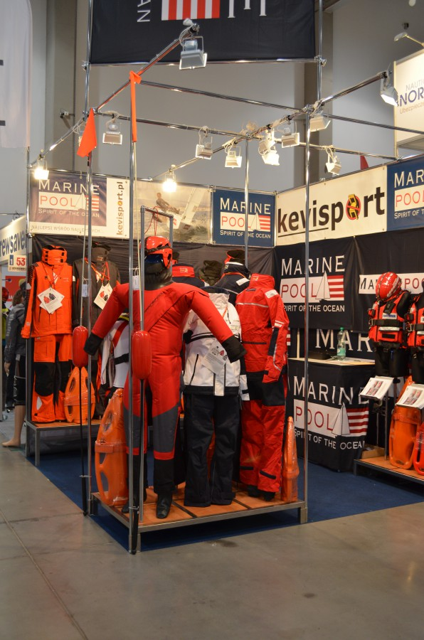 Company stand MARINEPOOL Sportartikel GmbH & Co. KG on trade show Boatshow Poland 2015