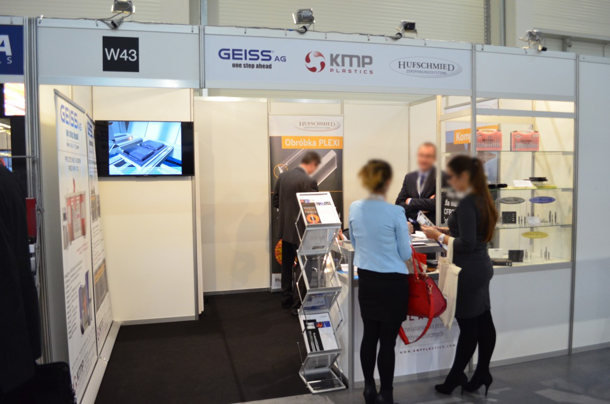 Company stand GEISS AG on trade show KOMPOZYT-EXPO 2015