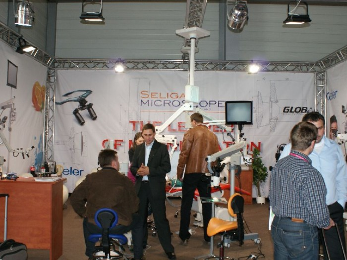 Company stand SELIGA MICROSCOPES Sp. z o.o. on trade show CEDE 2010
