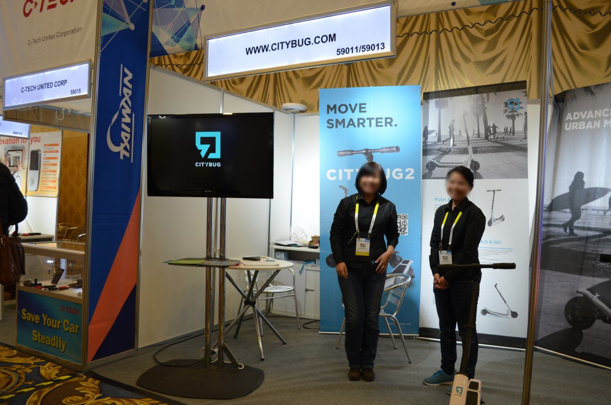 Company stand CITYBUG on trade show INTERNATIONAL CES 2016