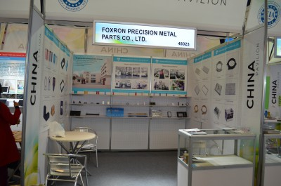 Company stand Foxron Precision Metal Parts Co., Ltd. on trade show INTERNATIONAL CES 2016