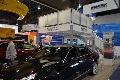 Company stand Gentex Corporation on trade show INTERNATIONAL CES 2016