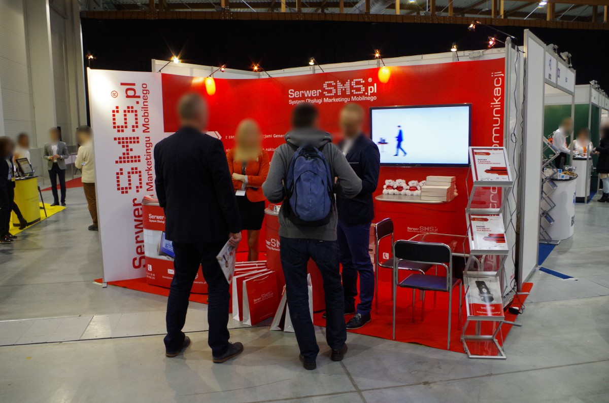 Company stand ARTNET - SerwerSMS.pl on trade show MOBILE-IT 2016
