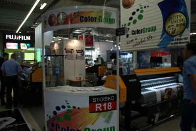 Company stand COLOR GROUP on trade show RemaDays Warsaw 2016