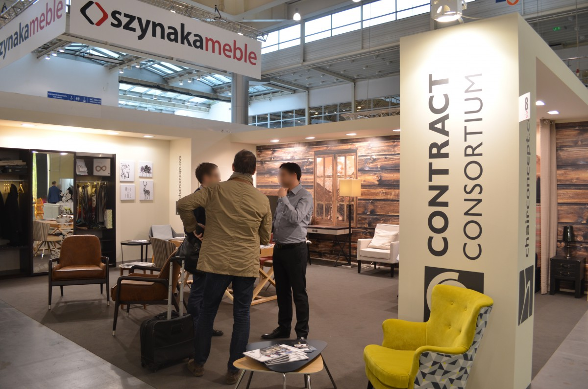 Company stand CHAIRCONCEPT.COM Sp. z o.o. on trade show MEBLE POLSKA 2016